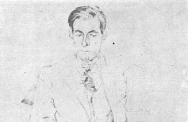 Portret3 Slauerhoff - tek. Van Uytvanck