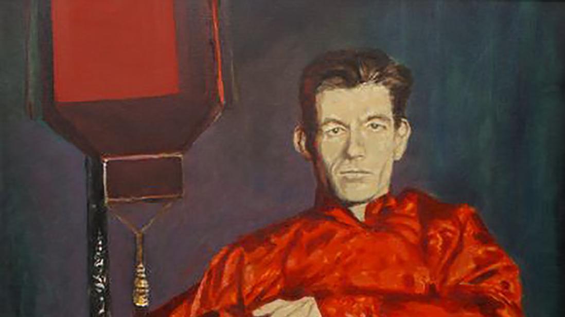 lowres/geschilderd portret Slauerhoff door Rob Schotsman